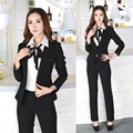 New 2016 Winter Formal Office Uniform Designs Women Suits with Pant and Jacket Sets Blazer Feminino Pantsuits