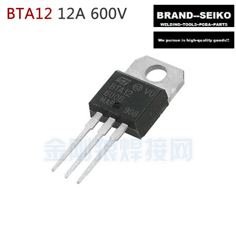 Bta12-600b St To-220 12a600v 10pcs/lot Three End Bidirectional Thyristor bta41 600b bta41600b to 3p