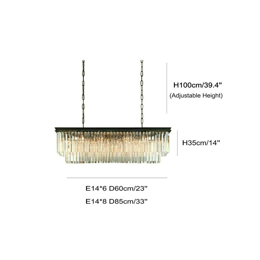 Lampadario Illuminazione di Grandi Dimensioni Lungo Lampadari di ...