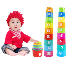 Baby Toy Funny Small Learning Education Jenga Cup Toy Block Game for Kids Juguetes Educativos Toys CX678538(China)