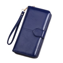 KANDRA 2019 Solid Colors PU Leather Wallet Women Long Utility Removable Clutches Wallets Blue Designer Purses Credit Card Holder bvlriga women wallet nubuck leather long purses card holder women clutches fashion wallets money purses 2017 new clutches women