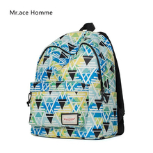 Mr. ace homme Марка Bagpack 2017 корейской моды печати рюкзак женщины школьные сумки для девочек-подростков Повседневная рюкзак сумки для ноутбуков