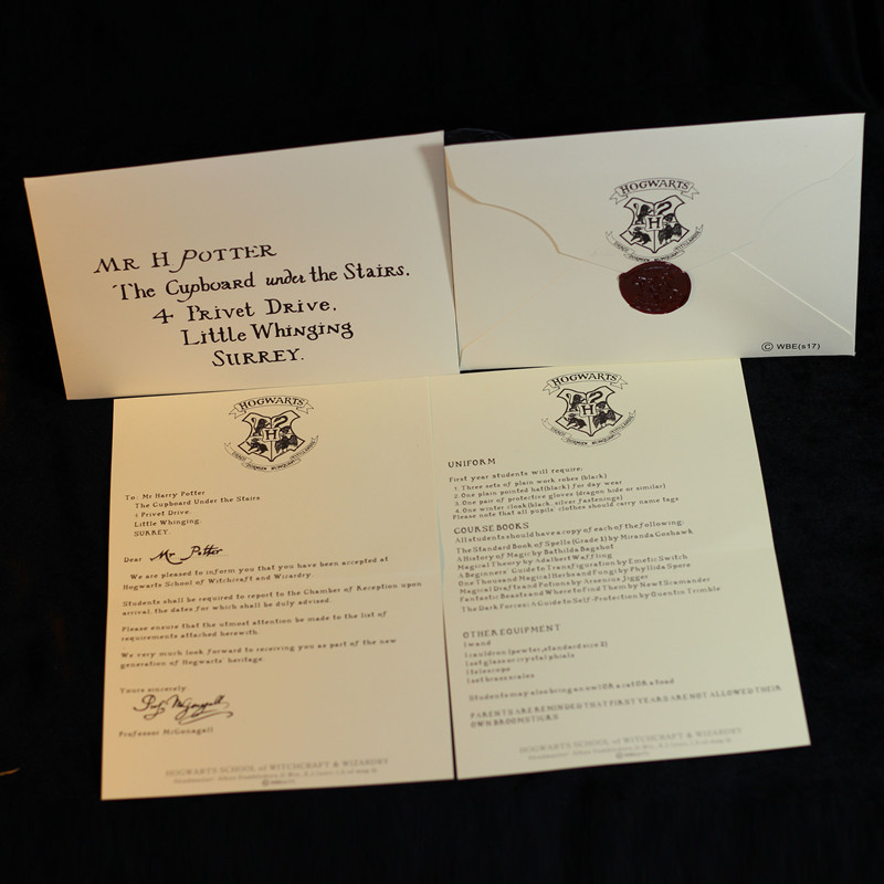 1 HOGWARTS ACCEPTANCE LETTER BEST BIRTHDAY GIFT BUNDLE FOR HARRY POTTER FAN Collectibles