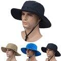 2016 Новый Открытый Ведро Шляпы быстросохнущий Дышащий Вс Шляпы Езда Рыбалка Восхождение Джунгли Hat Cap УФ защита