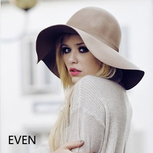 Frete grátis ( MIX pedido de us $ 10 ) moda audrey hepburn lã arco grande chapéu de aba brim onda chapéu feminino francês