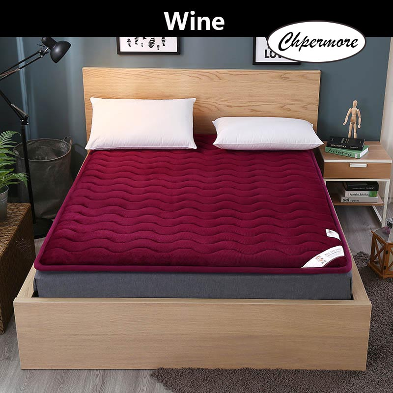 Chpermore Thick warm warm velvet Mattress 1.8m Foldable Tatami student dormitory Single double Mattresses King Queen Size