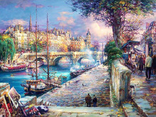 Diy diamond painting Handmade cross stitch kit full Diamond embroidery scenery picture 3D square  Mosaic pasted