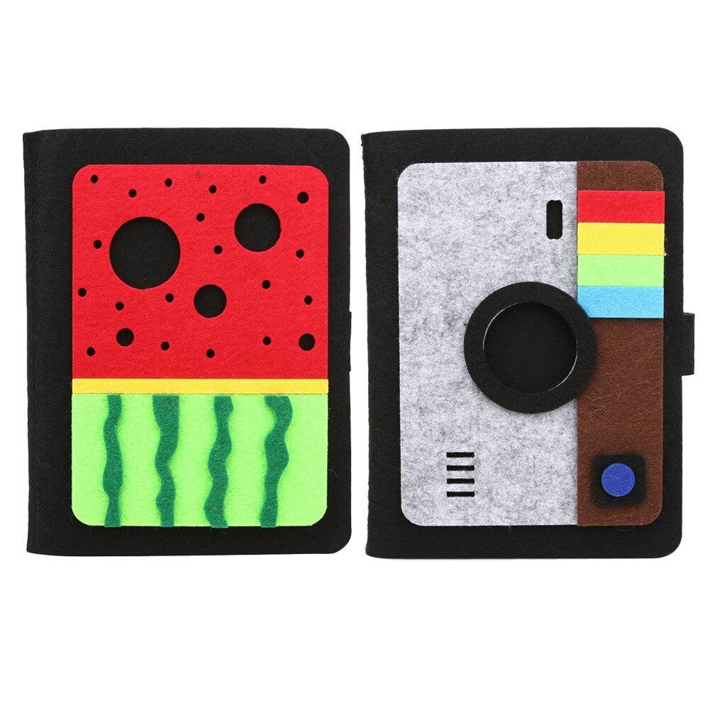 6 zoll Filz Einsatz Typ Polaroid Fotoalbum Baby Wachstum Souvenir Memorial Buch 20 seiten Foto Alben Geschenke Leaves Home decor