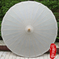 Pure White Wedding Oil Paper Umbrella Chinese Craft Bamboo Oiled Paper Umbrella Wedding Supplies DIY Painting Paper Parasol