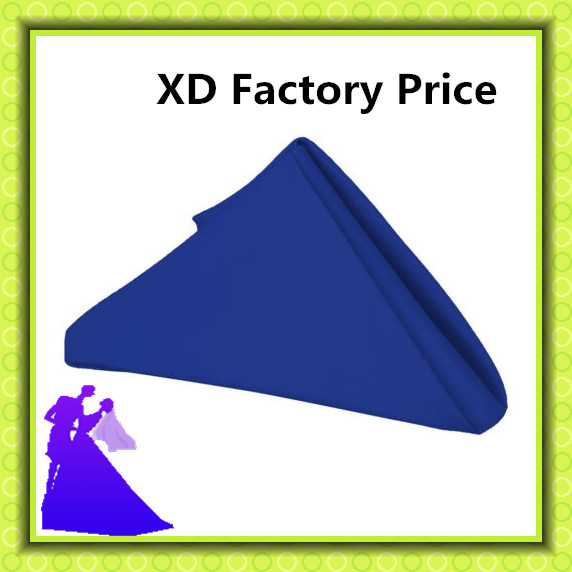 Free shiping 45*45cm blue polyester table napkin promotion price for hotel wedding party