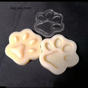Image 4 - Ofício de couro cão gato pata chaveiro diy pingente forma modelagem molde plástico com corte molde plástico conjunto 75mm