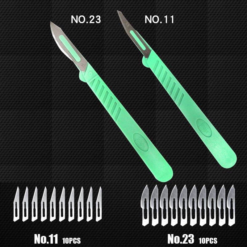 цена на 22pcs Disposable Animal Surgical Scalpel Knife Multi-function mini Knife Tools