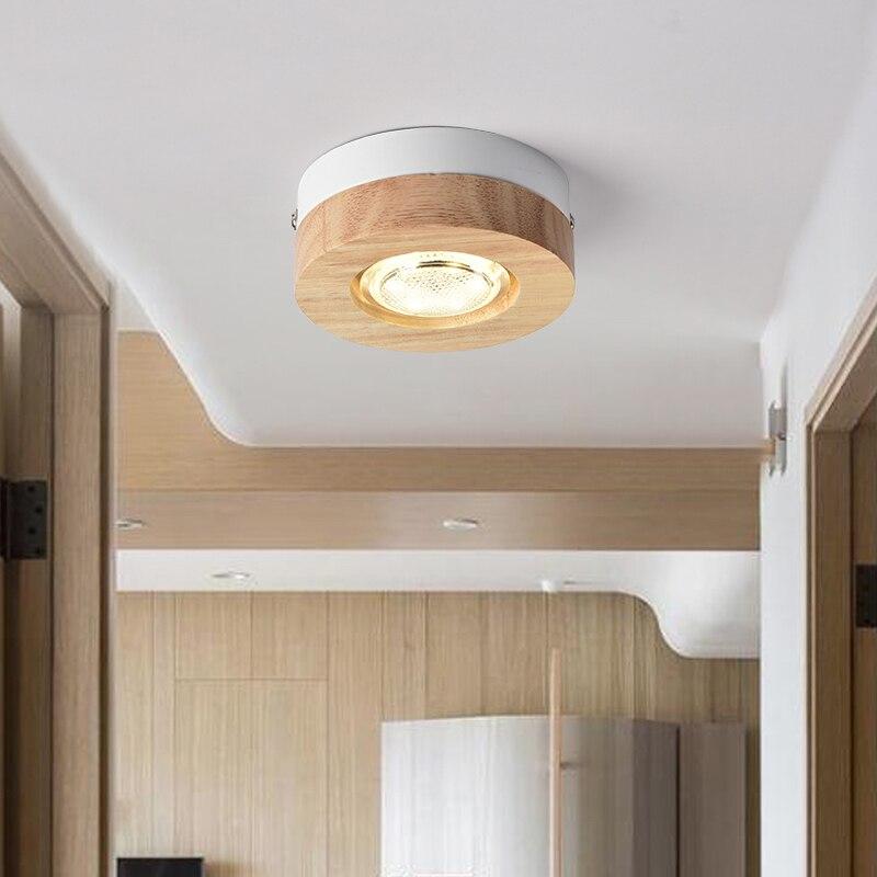 Us 2436 16 Offnowoczesne Lampy Sufitowe Led Drewniane Lampy Sufitowe Do Korytarz Kwadrat Okrągły Kuchnia Drewna światła Mała Lampa Do Montażu