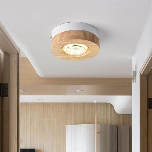 Plafond Moderne A Leds Lumieres En Bois Plafonnier Pour Couloir