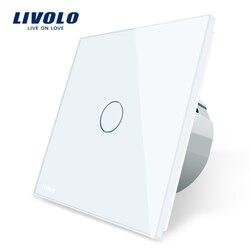 Livolo interruptor de sensor de toque de parede de luxo, interruptor de luz, interruptor de alimentação, vidro de cristal, tomada de energia, tomadas multifuncionais, livre escolha