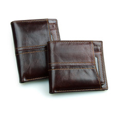 New 100% Guaranteed Genuine Leather Men Wallets Design Short Small Brand Male Mens Purses Card Holder Carteras