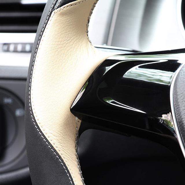Cubierta del volante del coche genuino de cree santa fe para hyundai elantra 2017 solaris accesorios del volante del coche