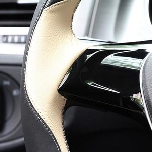 Image 3 - רכב מאמין אמיתי רכב הגה כיסוי עבור יונדאי סנטה fe elantra 2017 solaris אקסנט הגה אביזרי רכב