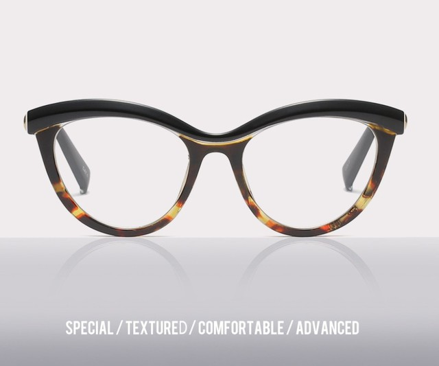 45490 Ladies Eyebrows Square Glasses Frames Women Brand Designer Optical EyeGlasses Fashion Eyewear Computer Glasses 5