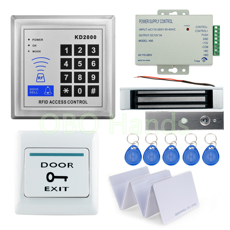 Free shipping 3000Users Add card+Delete card Full RFID Door Access Control System Kit Set for Door Lock System free shipping waterproof digital access keypad light support 2 main cards add card and delete card