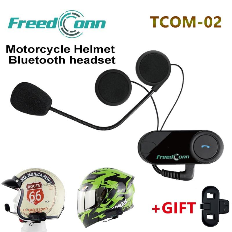 Freedconn TCOM-02 Moto Casco Hörlurar Motorcykelhjälmar Bluetooth Headset Trådlös Styrning För MP3 / 4 Radio iPod