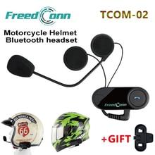 Freedconn TCOM-02 Moto Casco наушников мотоциклетные шлемы Bluetooth гарнитура Беспроводной Управление для MP3/4 Радио IPOD