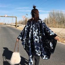 Осень/зима женщин Шали шарф редакции открытого раздвоенный пальто утолщенной кашемир-как отопление летом кондиционер номер одеялом