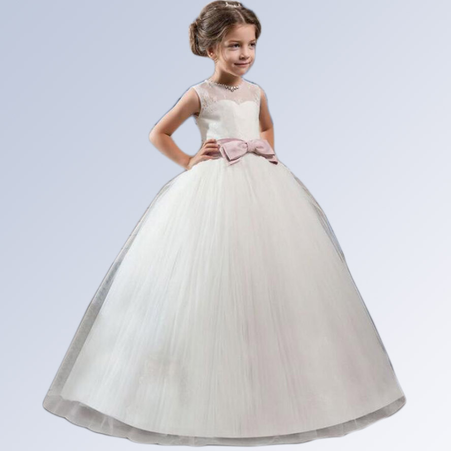 цены на Kids Party Dresses For Girls Flower Girls Wedding Dress 2018 Summer Princess Dress Costume Teenage 5 6 8 10 12 14 Years Old