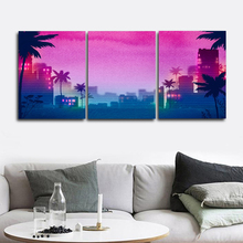 Laeacco Modern City Wall Artwork Night Scene Posters and Prints Nordic Home Decoration Canvas Painting Baby Bedroom Living Room
