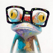 5D DIY Diamond Painting Cool Frog With Glasses Pattern Round Embroidery Full Drill Mosaic Stickers Cross Stitch