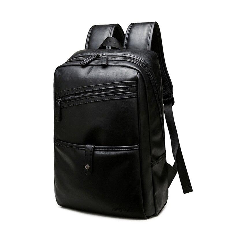 Backpack Men Backpack Men's School Bag For Teenager Male Laptop Bag PU Leather Notebook Backpacks Designer Brand Travel Backpack