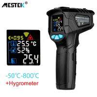 MESTEK IR01 цифровой термометр для измерения влажности инфракрасный термометр гигрометр Температура измеритель влажности пирометр