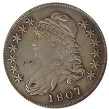 Дата 1807 1808 1808/7 1809 1810 1811 1812 1813 США с закрытым бюстом половина Доллары монеты КОПИЯ