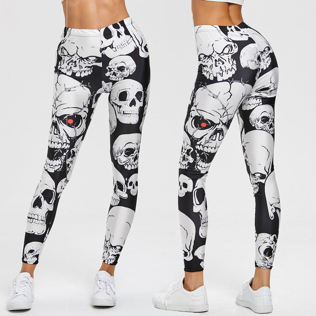 BLACK & WHITE SKULL LEGGINGS