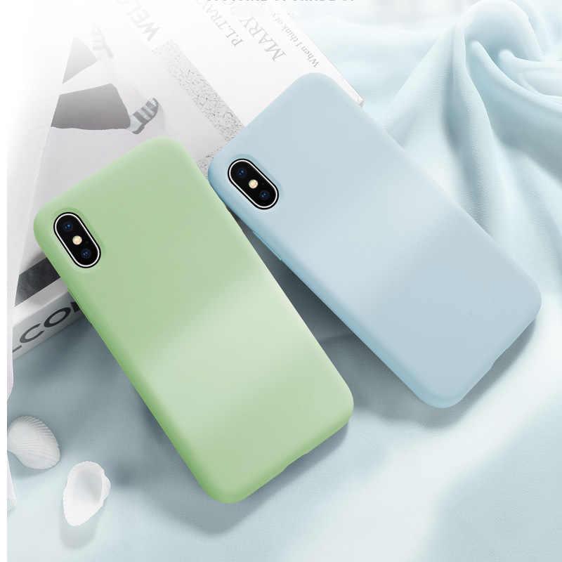 ของเหลวซิลิโคนสำหรับ Xiaomi Mi A2 8 Lite SE 6X 6 MAX 3 Mix 2 2 S Redmi 6A หมายเหตุ 5 6 7 Pro Soft TPU Candy ฝาครอบโทรศัพท์