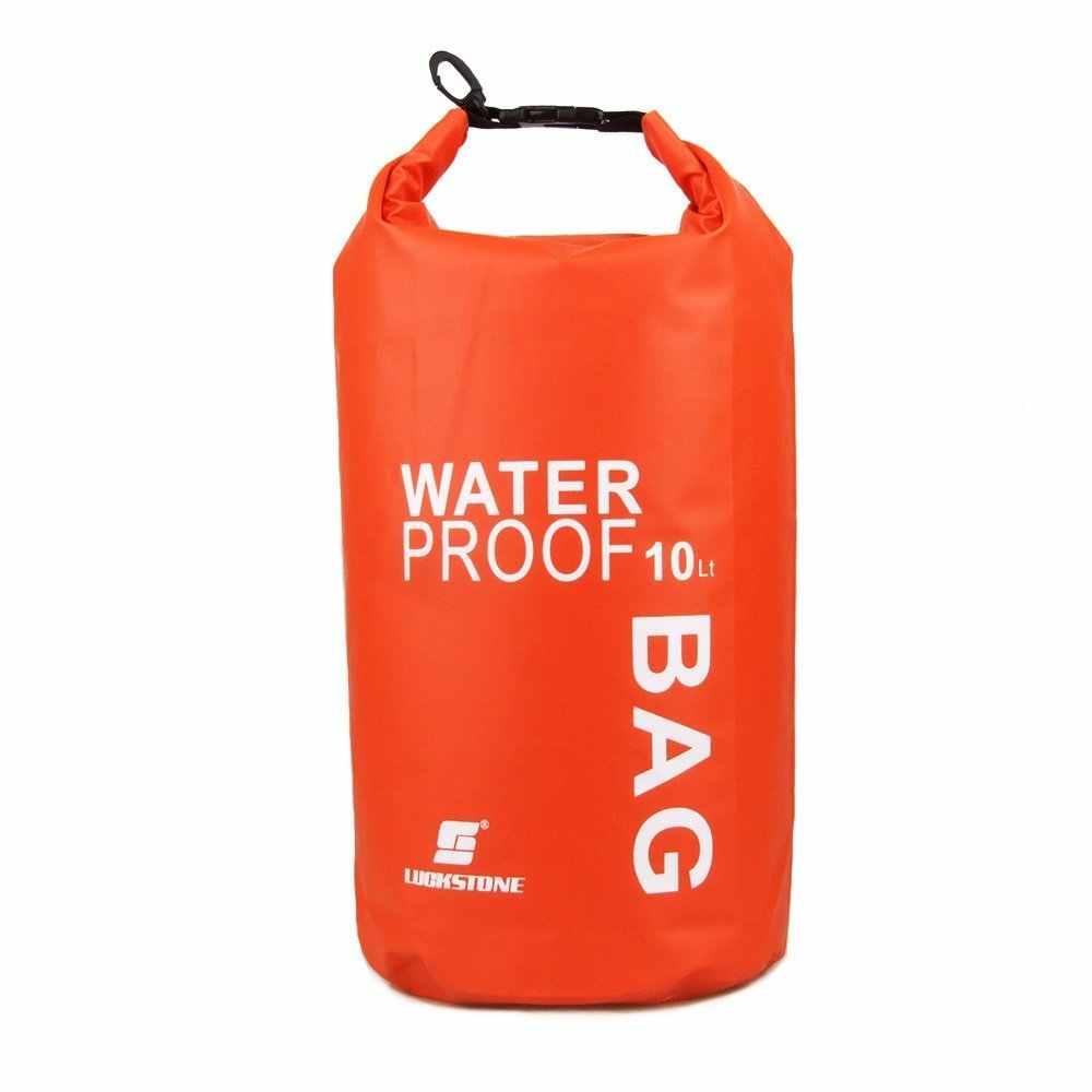 Luckstone 10L Водонепроницаемая сухая сумка сверхлегкий для походов на открытом воздухе, рафтинг, спасательный жилет на каяках