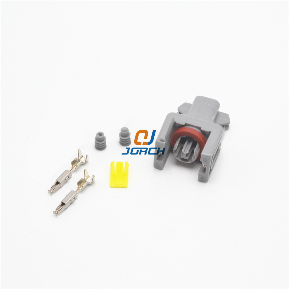 10 Sets 2 Pin Delphi Auto Sealed Fuel Injector Plug 10811963 Automotive Connector FCI 240PC024S8014