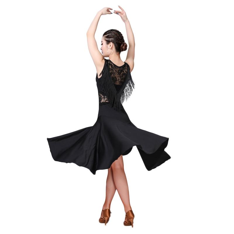 New Latin Dance Costume Women Latin Dance Competition Dress Ballroom Salsa Cha Cha Dance Wear Lace Tassel Dancing Practice Dress in Latin from Novelty Special Use