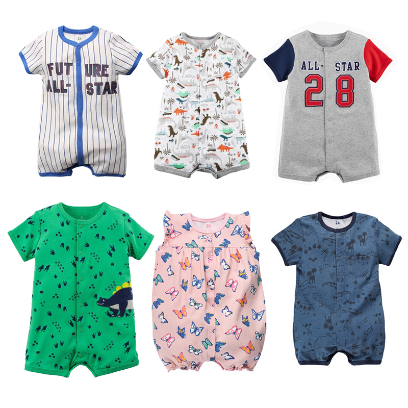 Summer Baby   Rompers   Baby Girl Clothes Cartoon Animal Cotton Newborn Baby Boy Clothes Infant Jumpsuits Toddler Outfit Unisex 2018
