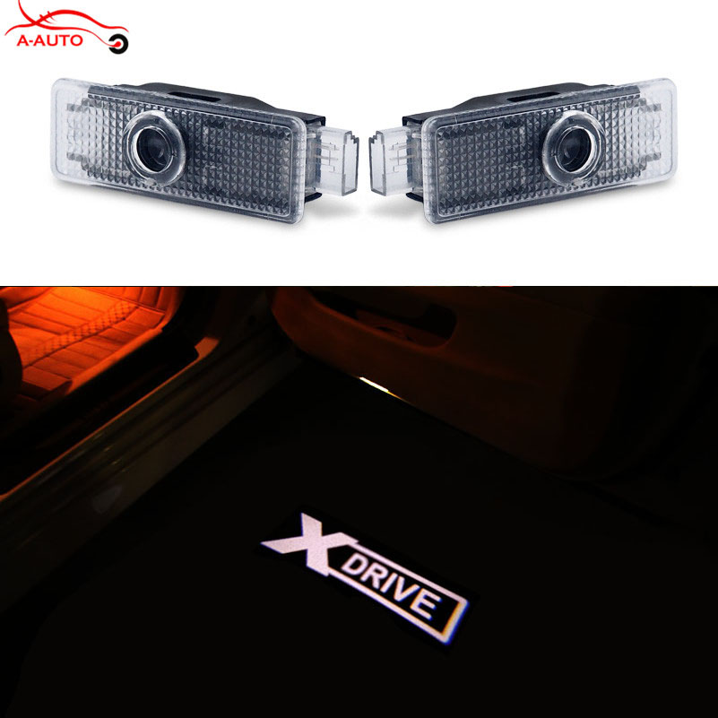 2 X Led Logo Ghost Shadow Projector Car Door Courtesy