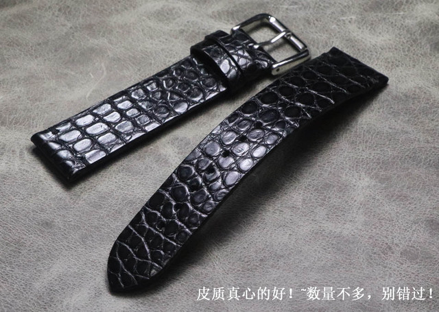 18 19 20 21 22 mm Handmade Genuine Leather Crocodile skin Watchbands thin Wrist high quality Watch Band Strap for branded watch | Fotoflaco.net