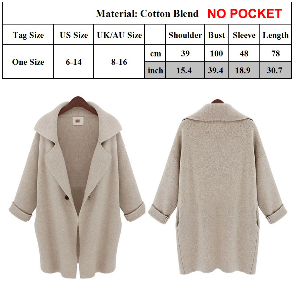 Women Lapel Irregular Ruffle Cardigan Ladies Baggy Trench Coats Jacket Size 8-16