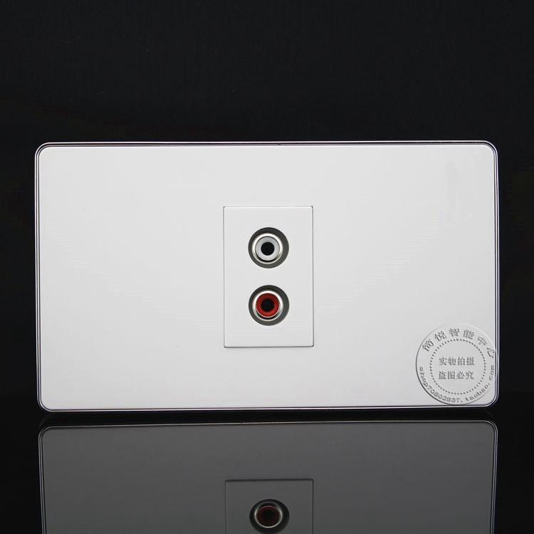 120MM Wall Face Plate RCA AV Connector Socket Assorted Panel Faceplate Outlet wall face plate rca av audio tv jack outlet socket assorted panel faceplate