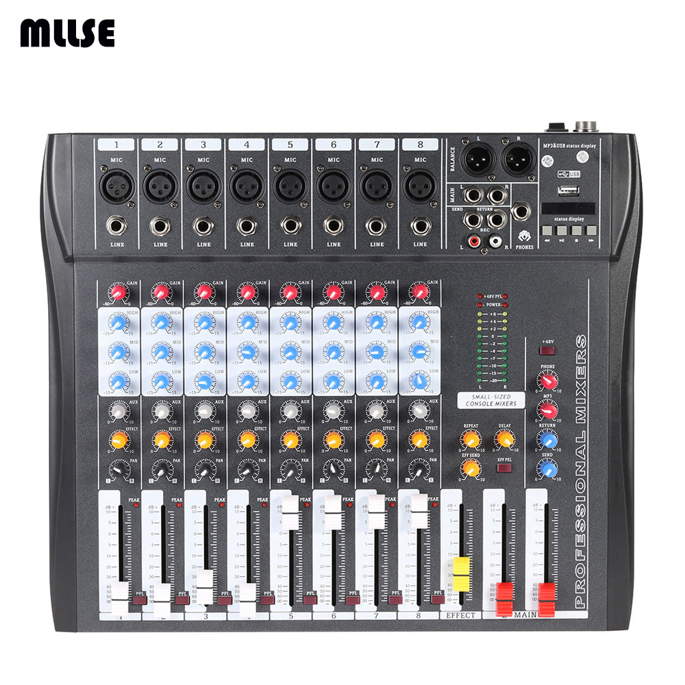 new ct80s usb 8 channels mixing console equipment professional audio dj mixer in karaoke player. Black Bedroom Furniture Sets. Home Design Ideas