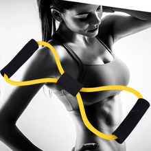 8 Word Type Resistance Band Chest Fitness Yoga Pull Rope Tube Rubber Muscle Trai
