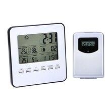 Buy Digital Wireless Indoor/Outdoor Weather Station Temperature Humidity Meter Sensor Hygrometer Clock Digital Thermometer