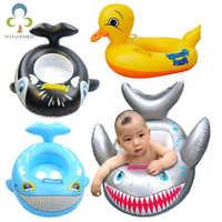 Flotadores para niños y bebés, asiento hinchable de tiburón y pato, seguro, para piscina