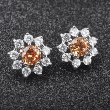 AAA + คุณภาพแชมเปญ Cubic Zirconia Silver Plated(China)
