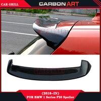 F20 F21 Car Auto Racing Glossy Black Carbon Fiber Car Rear Spoiler For Bmw 1 Series