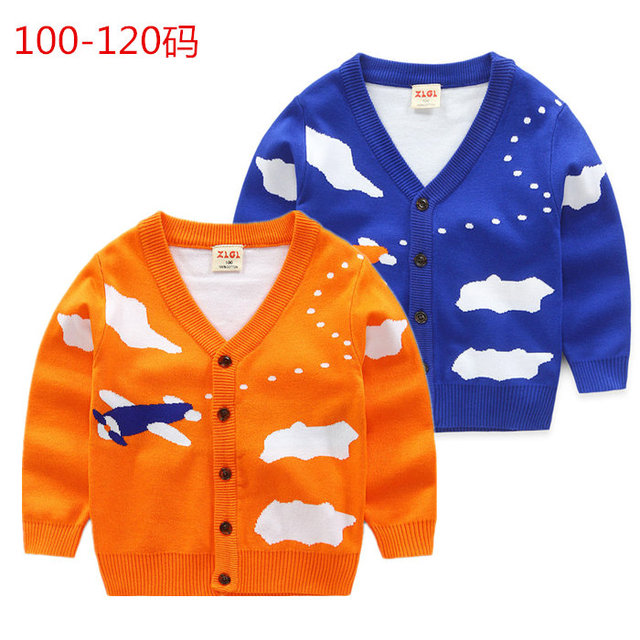 2017 new spring cotton baby sweater cardigan sweater coat children Childrens Boys knit cardigan 8068